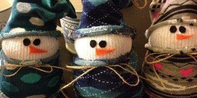 snowman making class (sock snowman) AM Class 2019