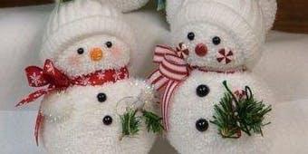 Snowman making class (sock snowman) PM Class 2019