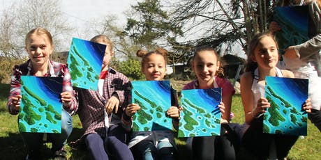 2-Day Art Camp: Southern Gulf Islands 3D Map Painting (ages 10+) tickets