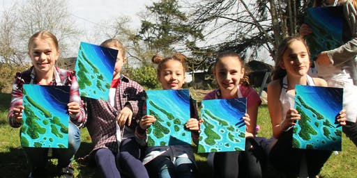 2-Day Art Camp: Southern Gulf Islands 3D Map Painting (ages 10+)