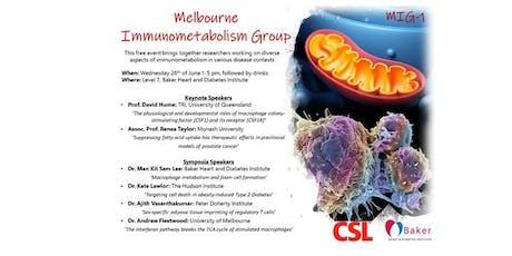 Melbourne Immunometabolism Group (MIG-1) tickets