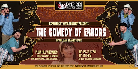 The Comedy of Errors at Plum Hill Vineyards - Sunday, July 14 at 4pm tickets