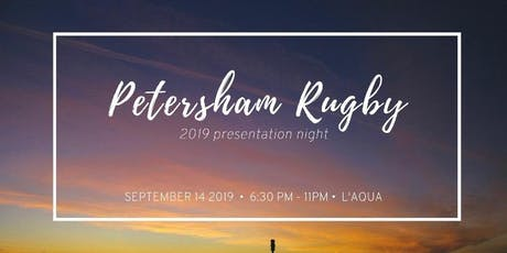 Petersham Rugby 2019 Presentation Night tickets
