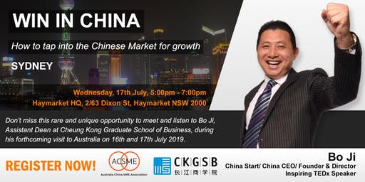 Win in China - How to tap into the Chinese market for growth - Sydney