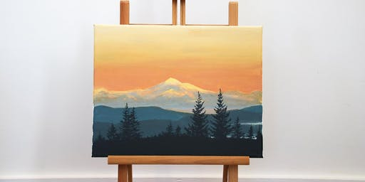 "Father's Day Special Paint Day Workshop ""Mount Baker Sunset"""