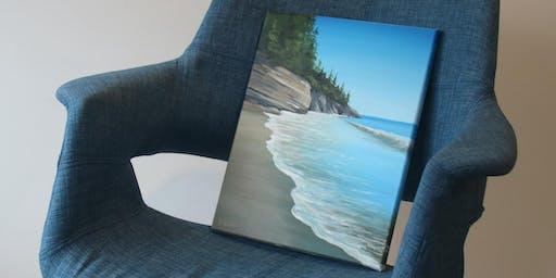 "Paint & Wine Night ""Mystic Beach"""