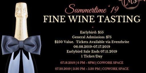 Summertime '19 Fine Wine Tasting