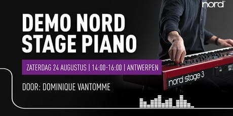 Demo Nord stage piano's tickets
