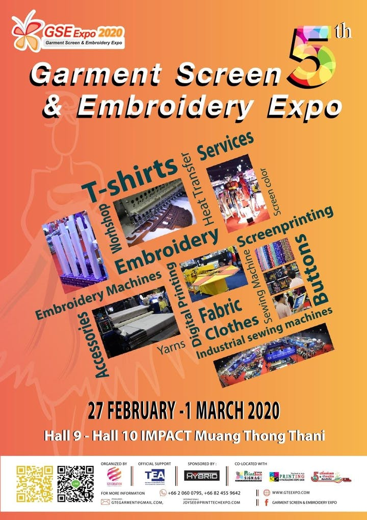 Best Embroidery Machine 2020 Garment Screen & Embroidery Expo 2020 Tickets, Thu, Feb 27, 2020