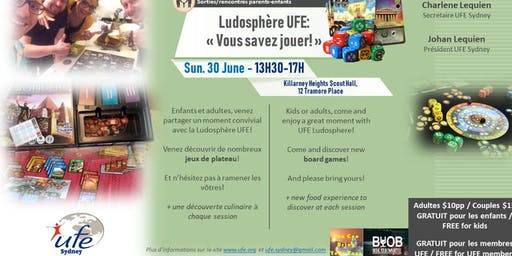 Ludosphère UFE: «Vous savez jouer!»