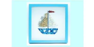 Crafternoons - Button boat shadow box