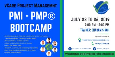 PMP Training | Sydney | Australia | July | 2019 | vCare Project Management