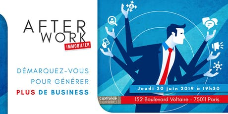 Afterwork Immobilier - Paris 11 - 20 juin 2019 billets