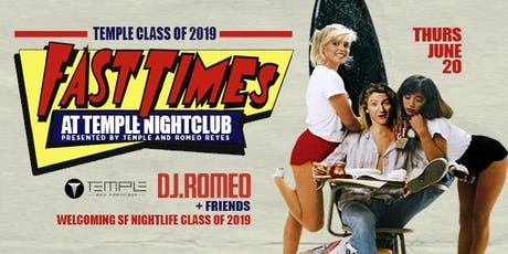 Fast Times at Temple Nightclub tickets