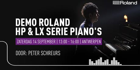 Demo Roland HP & LX piano's tickets