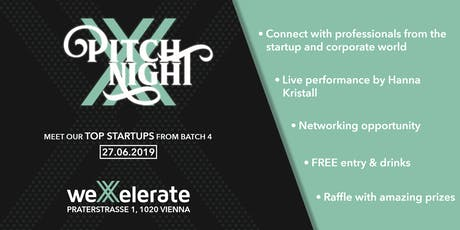 weXelerate: Pitch Night Batch 4 tickets