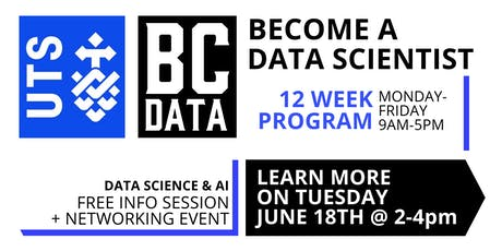UTS Data Science & AI 12-week Program - Launch & Info Session tickets