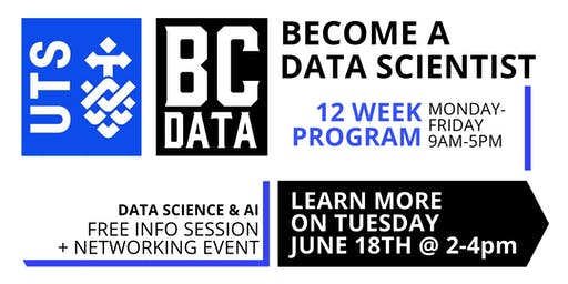 UTS Data Science & AI 12-week Program - Launch & Info Session