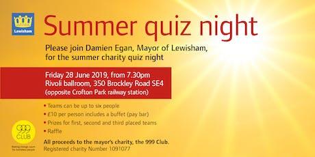 Summer Quiz Night tickets