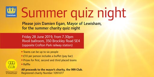Summer Quiz Night