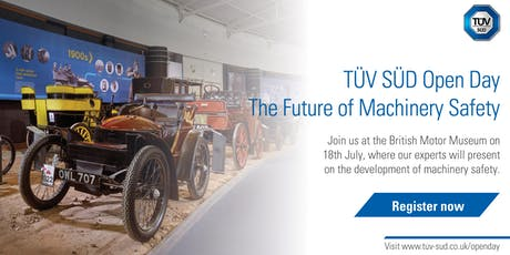 TÜV SÜD Open Day   The Future of Machinery Safety tickets