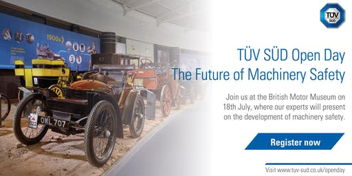 TÜV SÜD Open Day | The Future of Machinery Safety