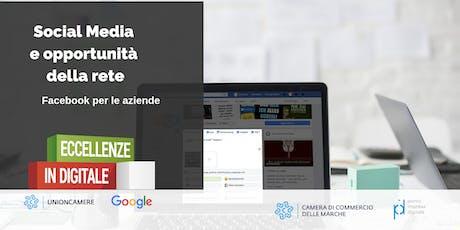 WORKSHOP ECCELLENZE IN DIGITALE: Social Media e le opportunità della rete | Facebook per le PMI biglietti