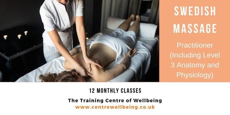 Swedish Massage Practitioner (Includes Level 3 Anatomy and Physiology) tickets
