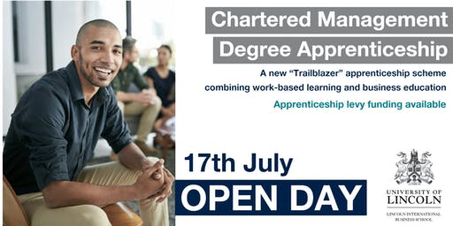 OPEN DAY: Chartered Management Degree Apprenticeship - Learn more about our trailblazing apprenticeship scheme