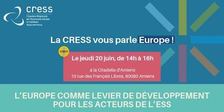 La CRESS vous parle Europe ! billets