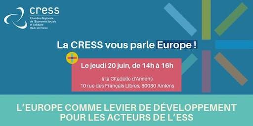 La CRESS vous parle Europe !