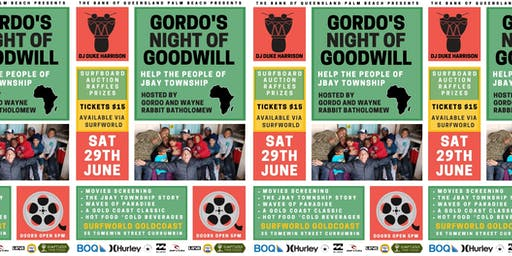 Gordo's Night of Goodwill & Fundraiser