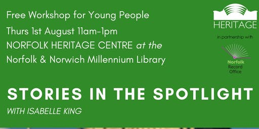 Stories in the Spotlight with Isabelle King - FREE Workshop for Young People
