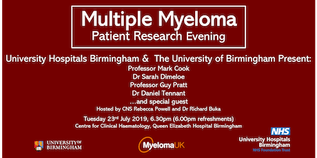 Multiple Myeloma Patient Research Evening tickets