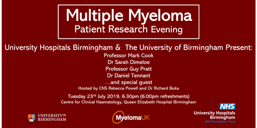 Multiple Myeloma Patient Research Evening