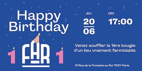 Happy Birthday Far Culture! billets