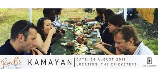 Roni B's Kamayan   Dinner - Pop up at The Cricketers