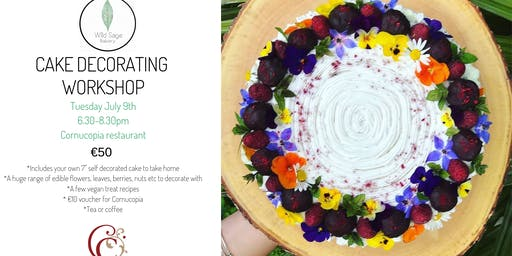 Cake Decorating Workshop with Wild Sage Bakery