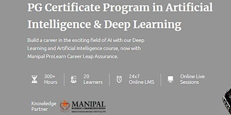 Artificial Intelligence Online Course tickets