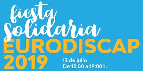 Invitación Fiesta Benéfica - Eurodiscap 2019 entradas