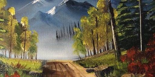 Bob Ross Painting: Peaceful Road