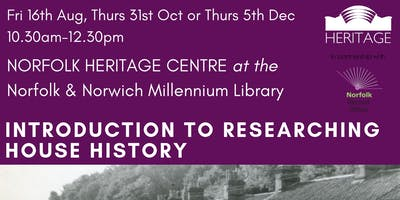 Introduction to House History Workshop - FREE