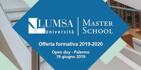 Open Day Post-laurea e Master LUMSA 2019-2020 biglietti