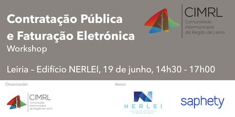 Contratação Pública e Faturação Eletrónica - Leiria, 19 de junho bilhetes
