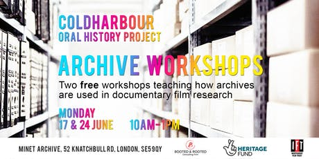 ARCHIVES FOR DOCUMENTARY: FREE WORKSHOP tickets