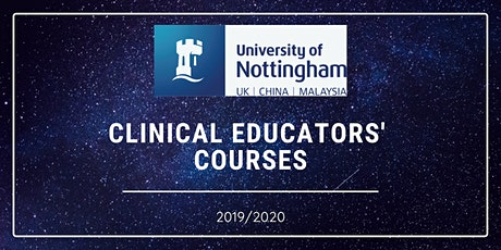 11.06.20 Clinical Educators' Course - Please book both dates tickets