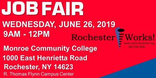 RochesterWorks! Summer Job Fair 2019 Job Seeker Registration
