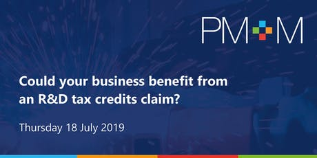 Could your business benefit from an R&D tax credits claim? tickets