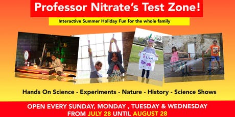 Professor Nitrate's Test Zone - Gift Aid tickets