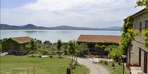 Il campus della Scuola di ecologia sull'isola Polvese